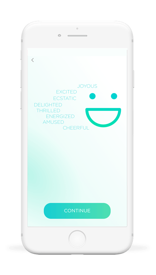 Feel emotion sensor recognize 5 emotions - Joy, Stress, Distress, Content, Sadness