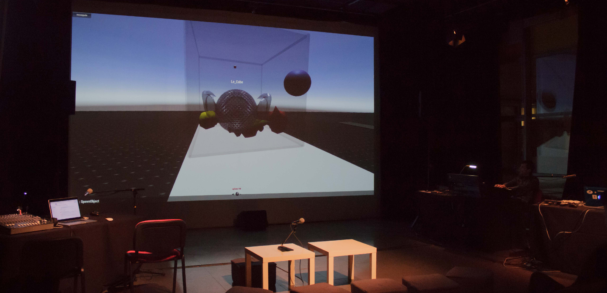 A virtual world for audiographic experimentation