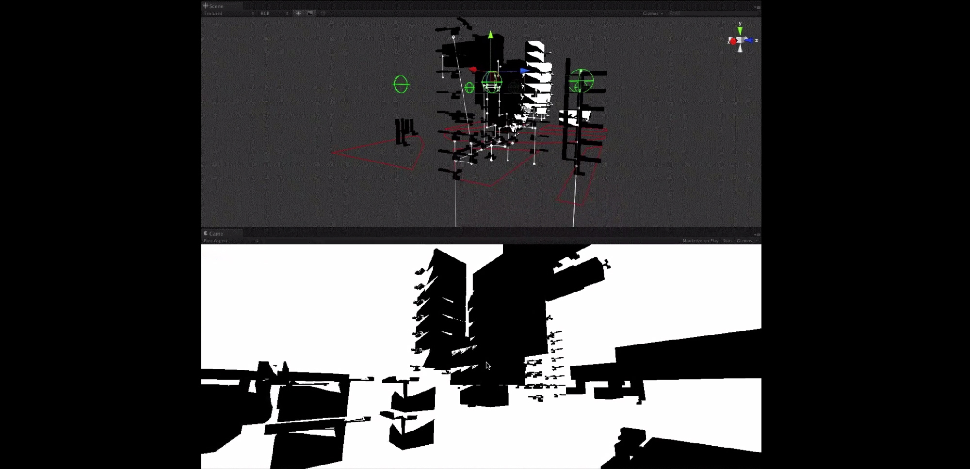 Representing an urban environment using audiographic objects