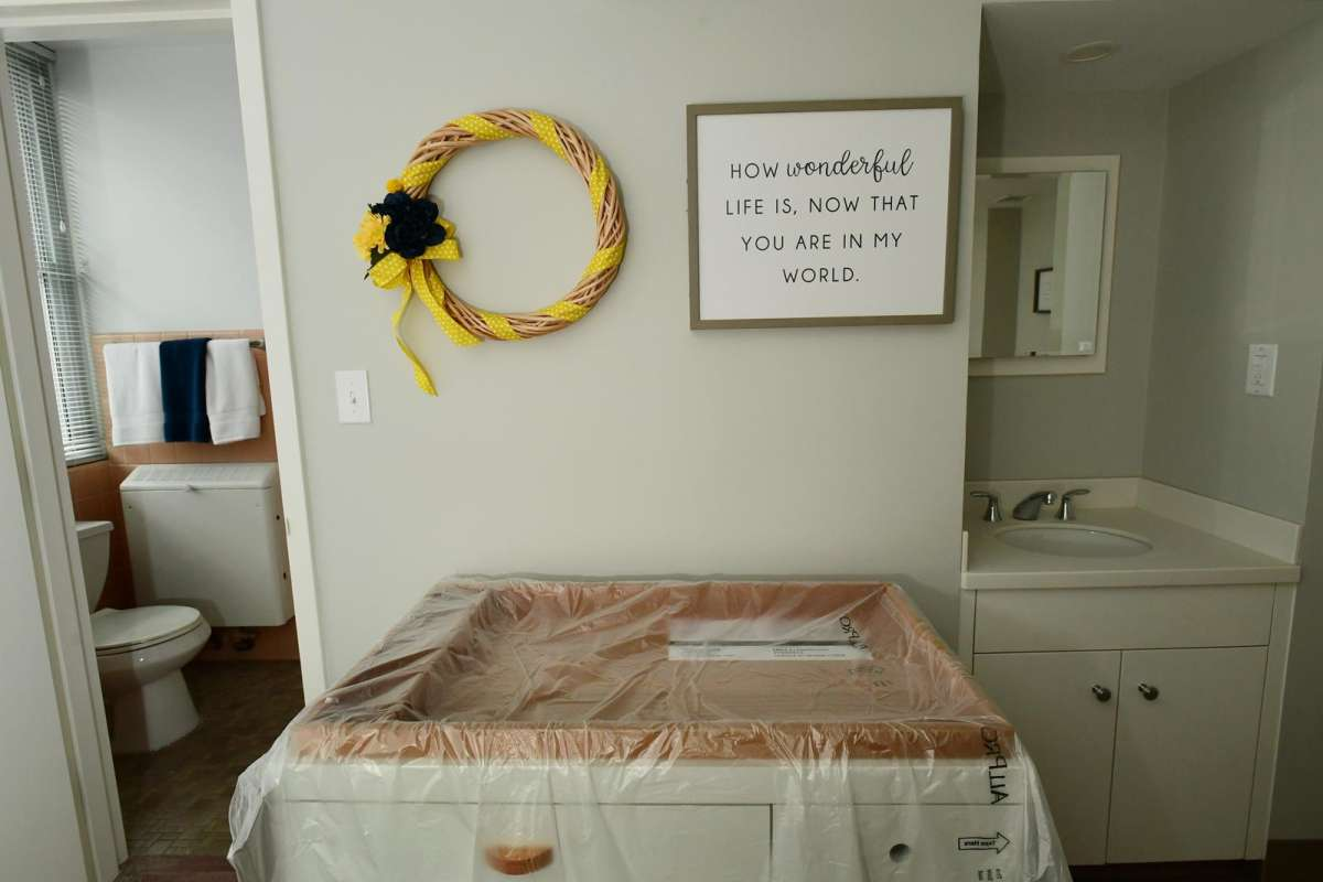 A new diaper changing station