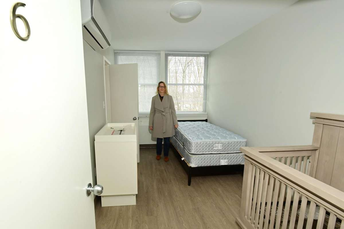 Kim Petrone in one of the new bedrooms