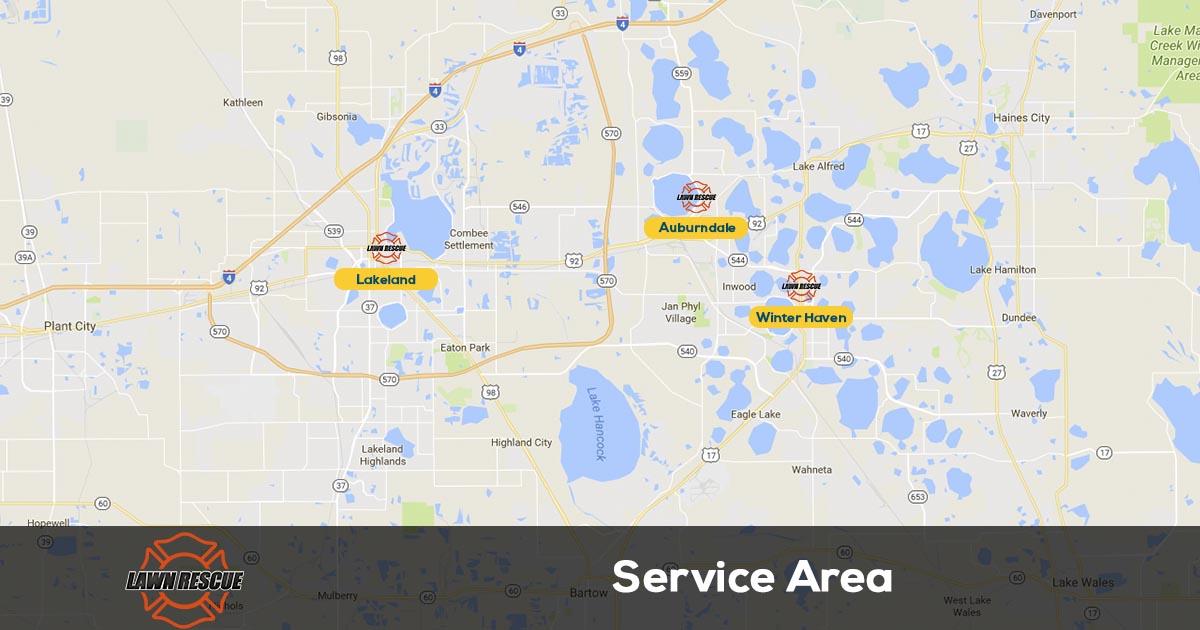 Lawn Rescue Service Area
