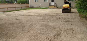 asphalt paving large lot