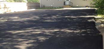asphalt paving completed