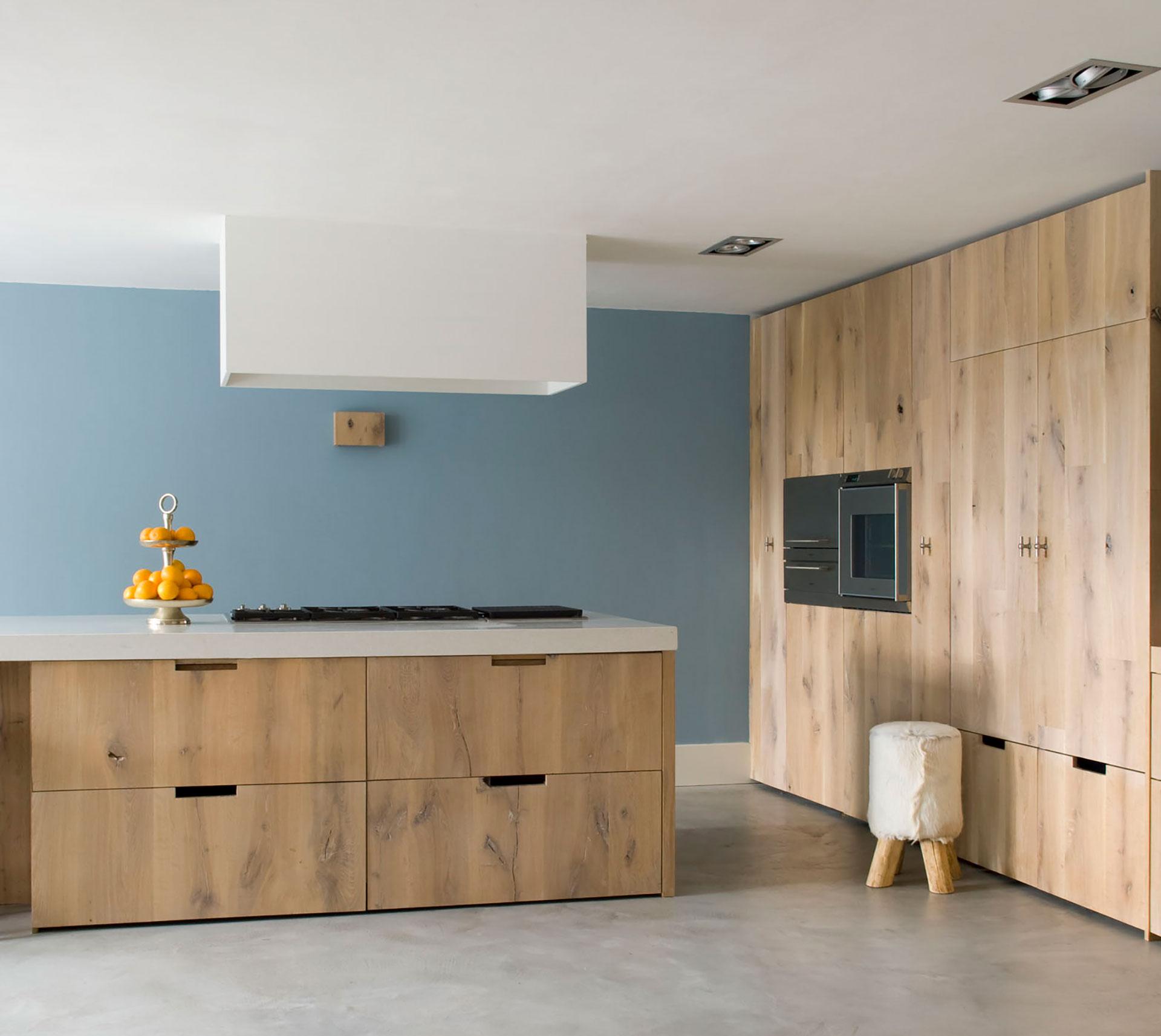 Houten moderne keuken