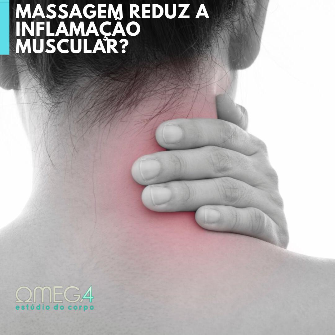 Massagem reduz a inflamação muscular?
