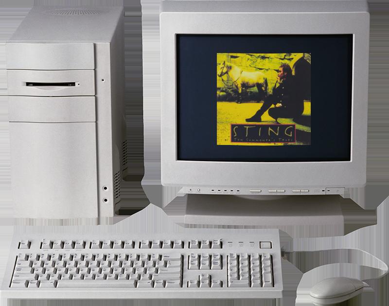 Ordinateur des années 90
