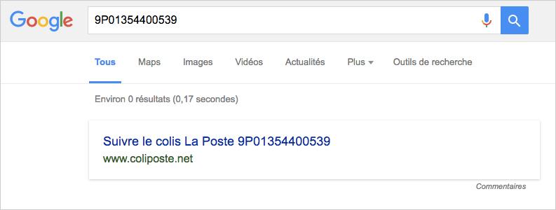 Colissimo Google
