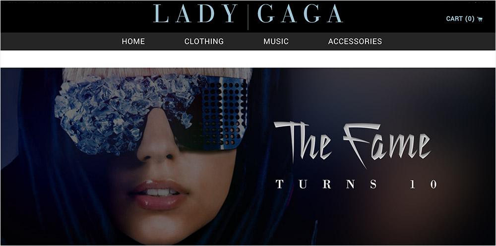 Lady Gaga Shopify