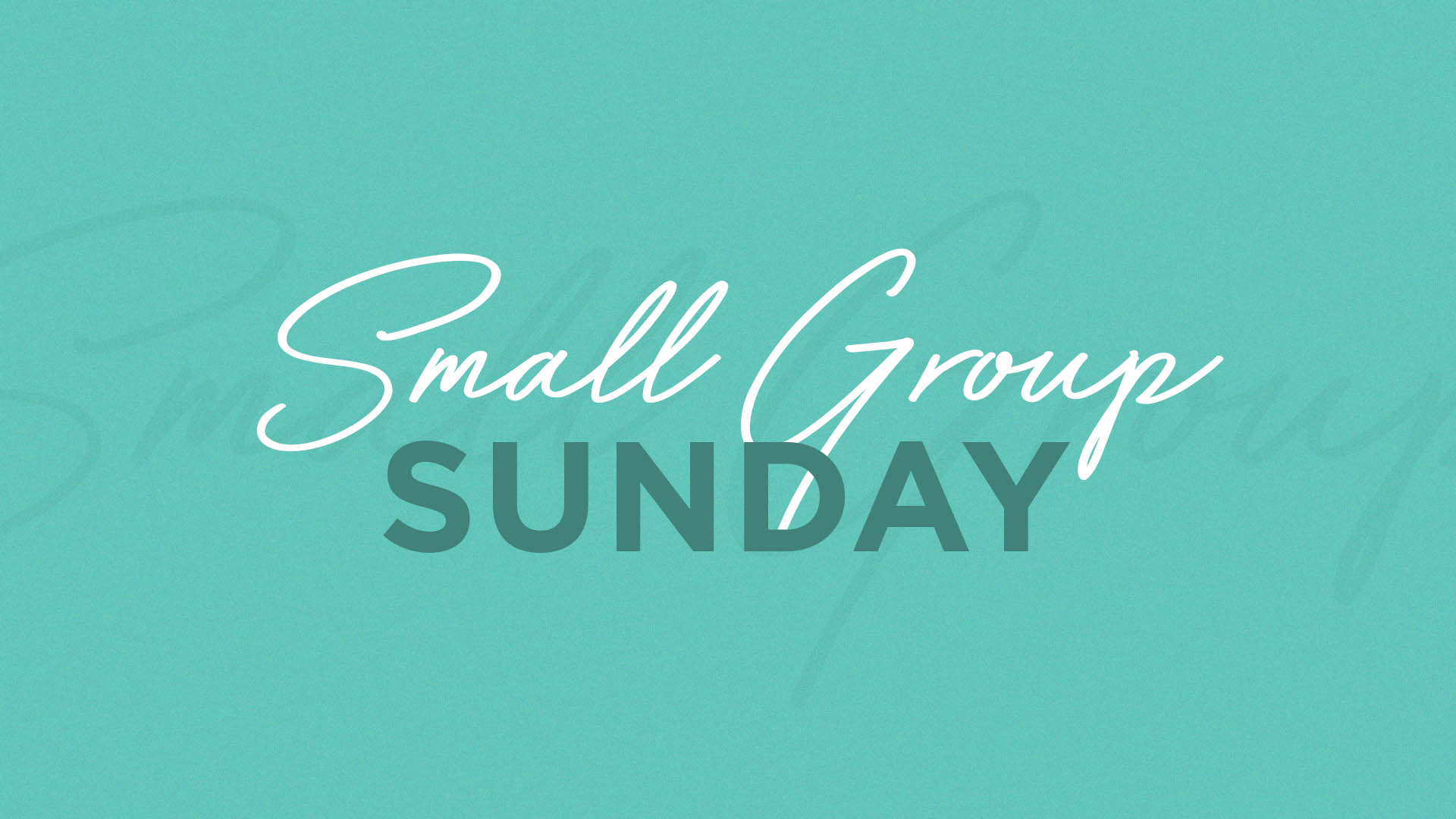 Small Group Sunday