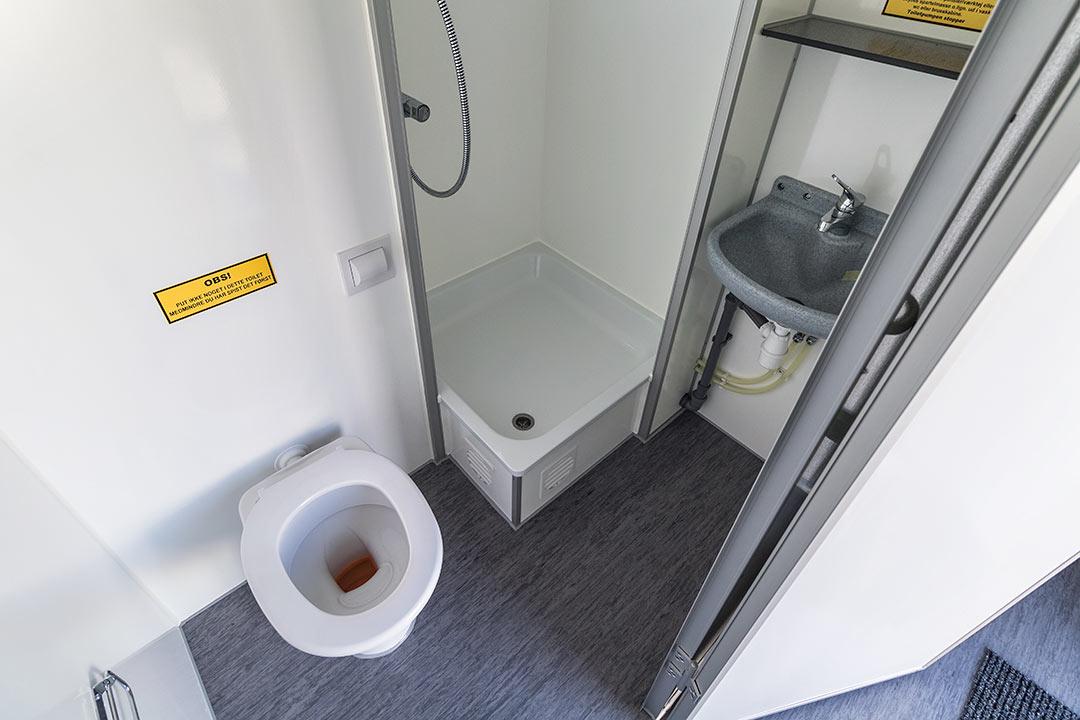Scanvogn beboelsesvogn badeværelse