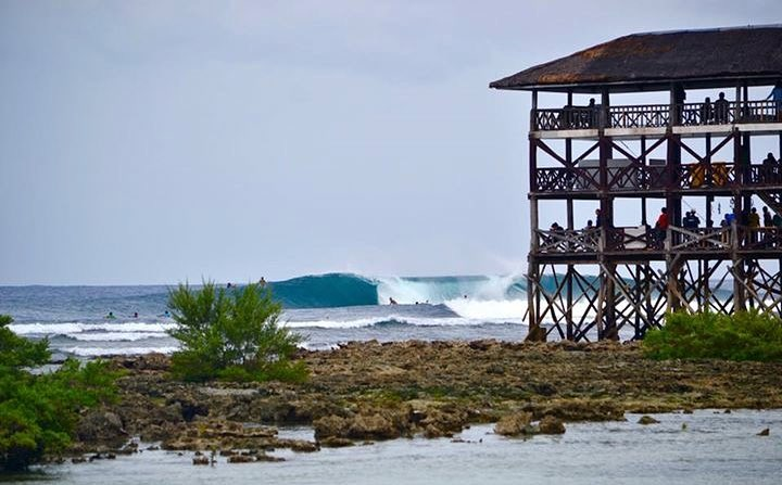 Surfing cloud 9 Philippines