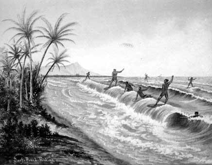 Native Hawaiian Surfing - Courtesy of Bishop Museum Archive