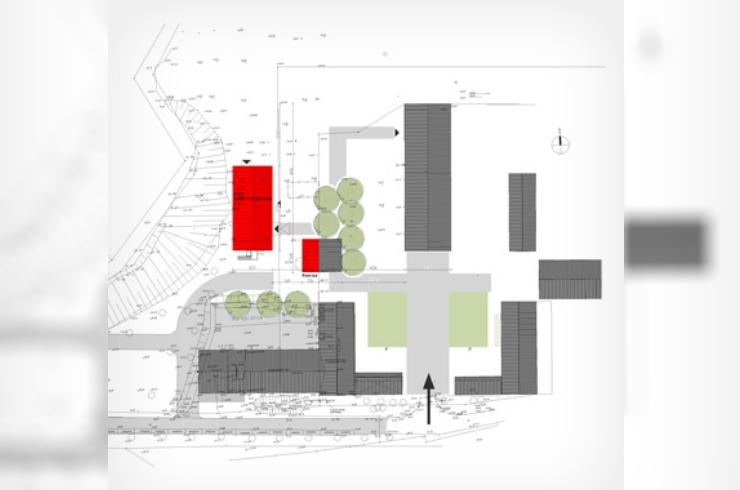 Baubeginn am Gästehaus der Ökologiestation Bergkamen (UWZ)