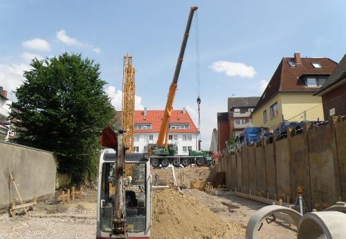 Baubeginn einer neuen Wohnanlage in Münster-Pluggendorf