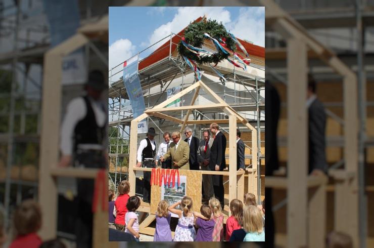 Richtfest am Neubau der Tagesklinik in Warendorf