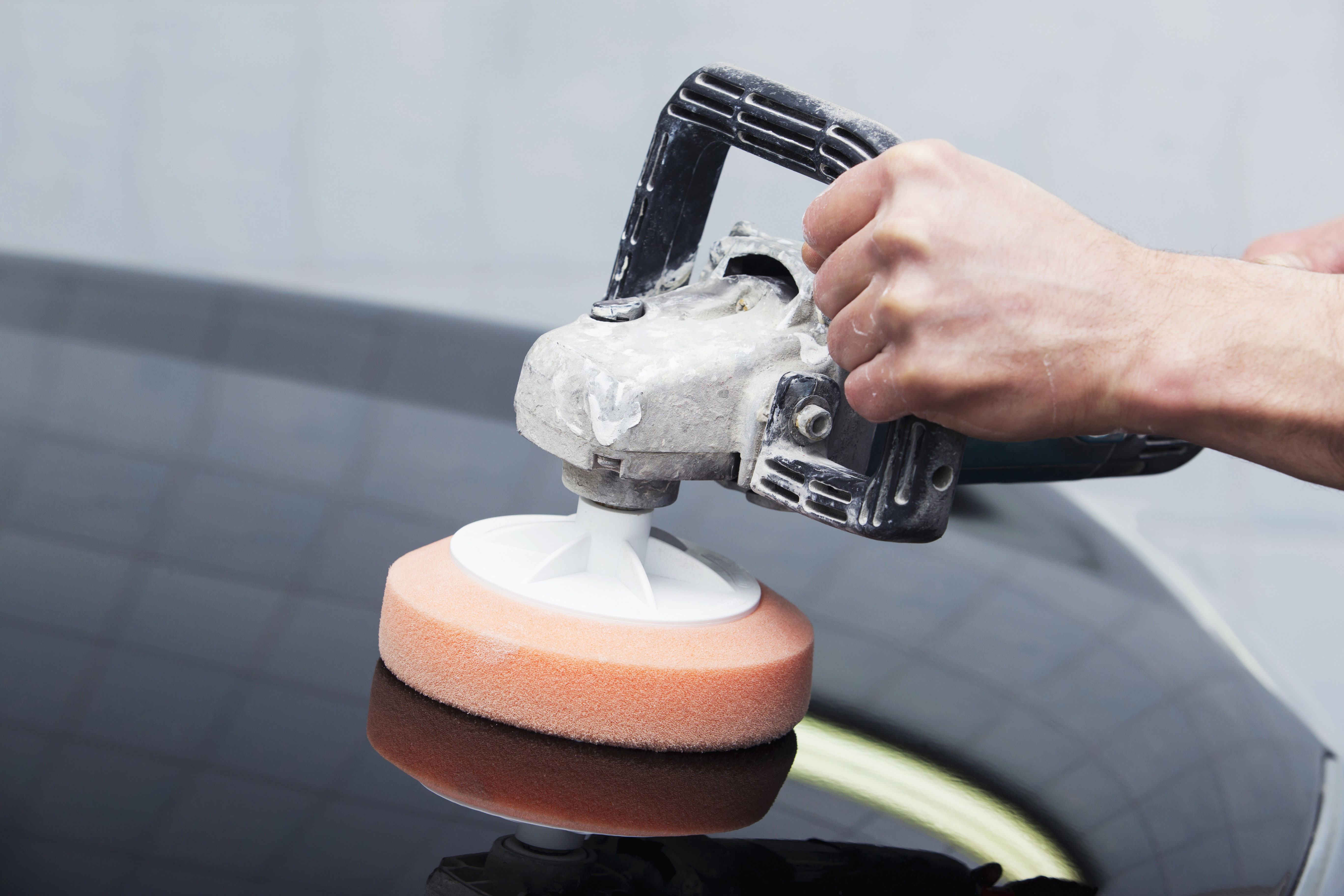 Photo of buffing car paint