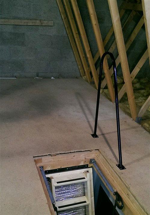 Metal Loft Grab Rail