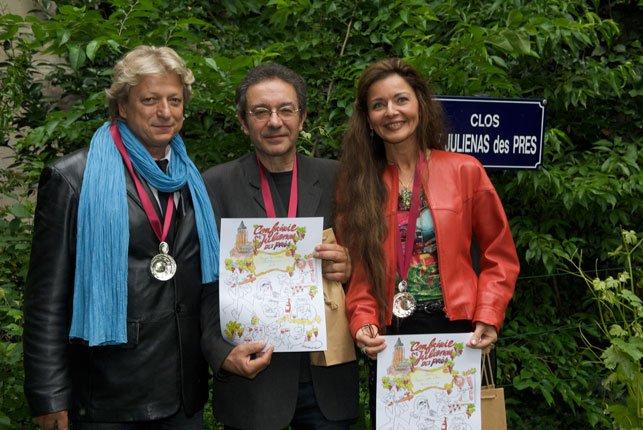 """""""Alain Turban, Jean Fauque, Gaëlle Villien"""" """"Clos St Juliénas Des Près"""