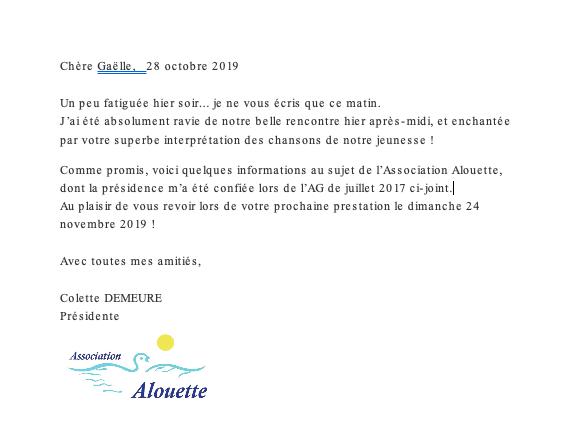 Colette Demeure Résidence St Augustin