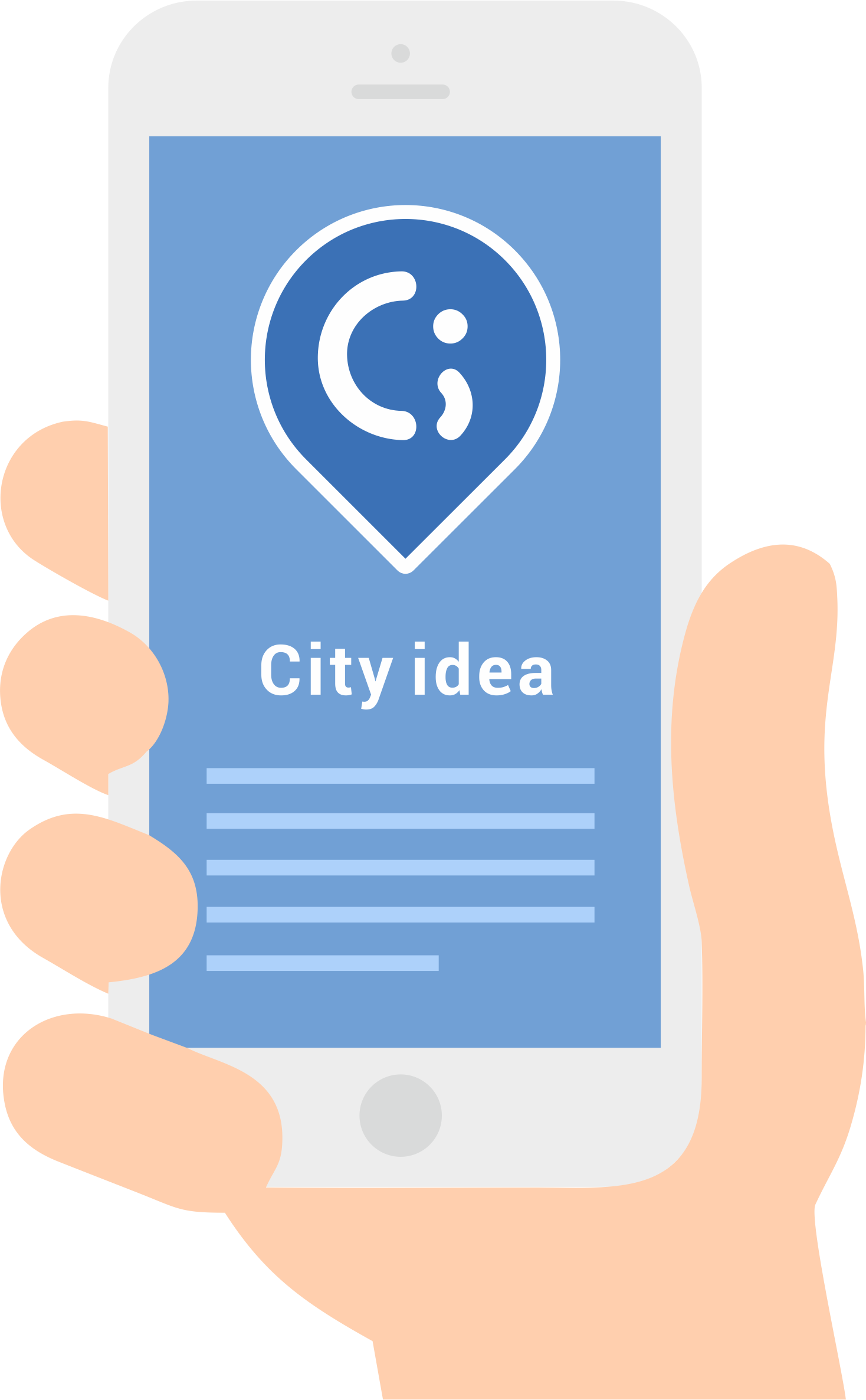 Make a change in your community with our Happycity app