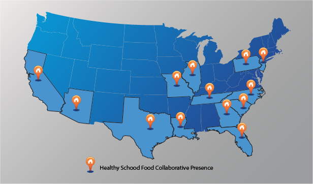 THSFC National View of Schools working with The Healthy School Food Collaborative