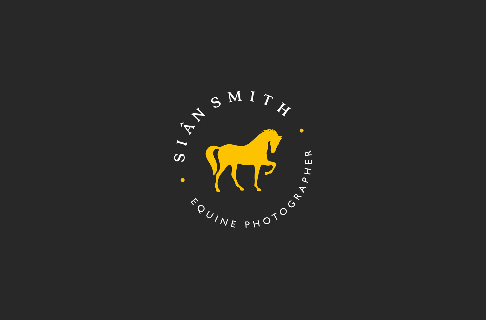 logo design for equine photographer in Wales