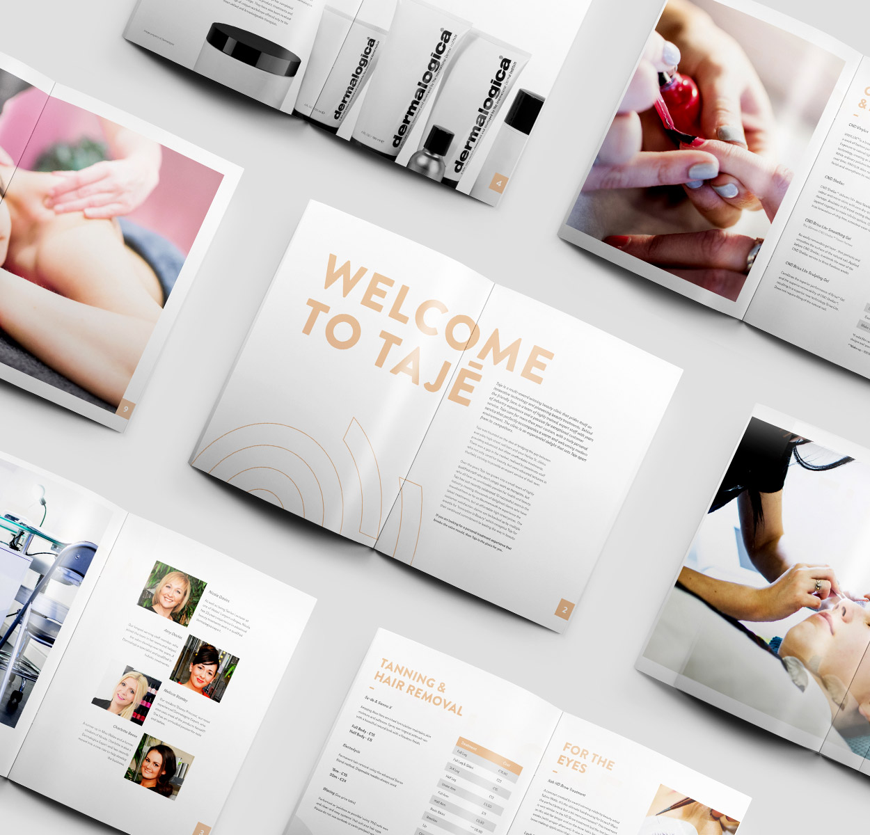 beauty salon price guide design