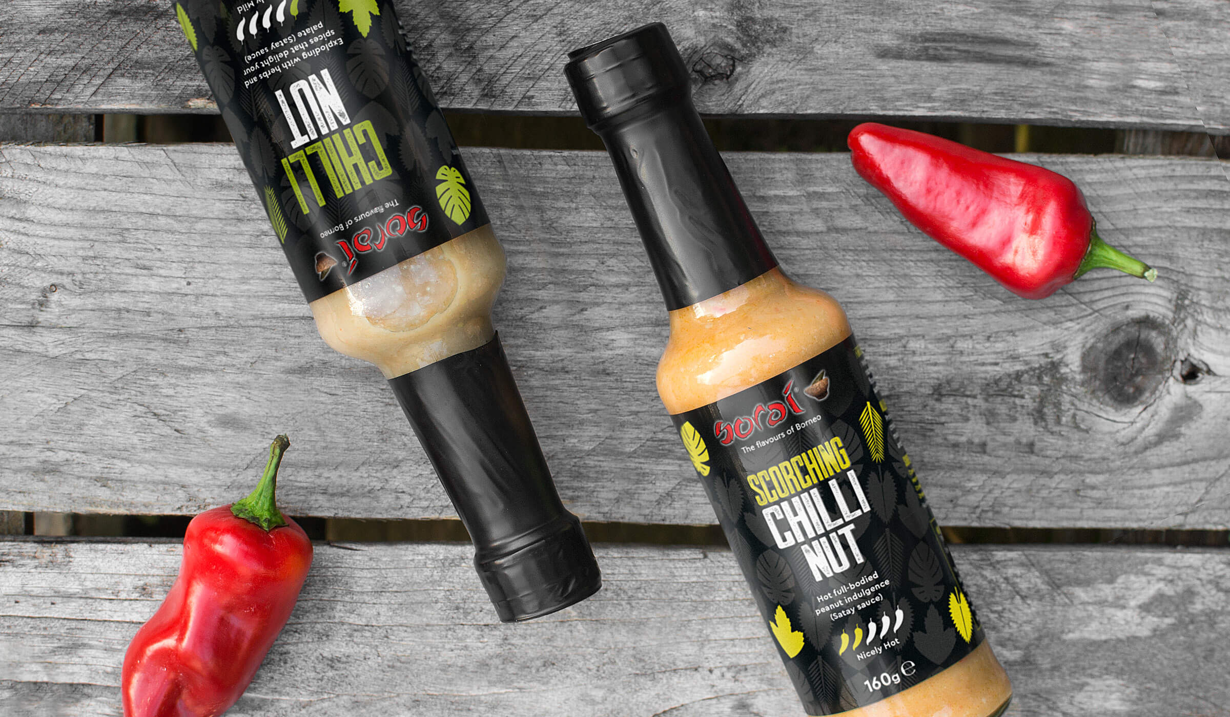 Hot chilli sauce packaging design