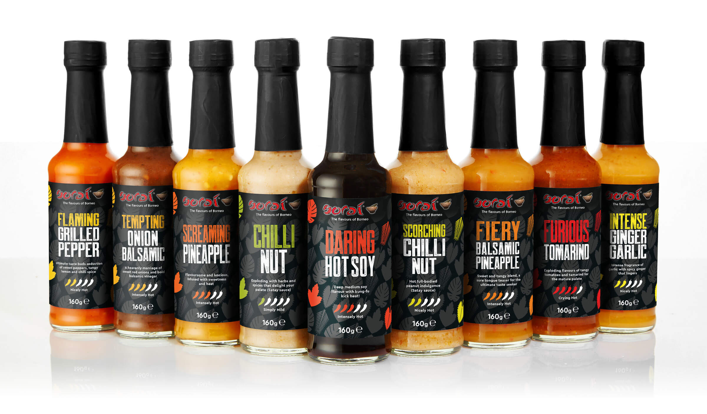 Hot sauce packaging designs