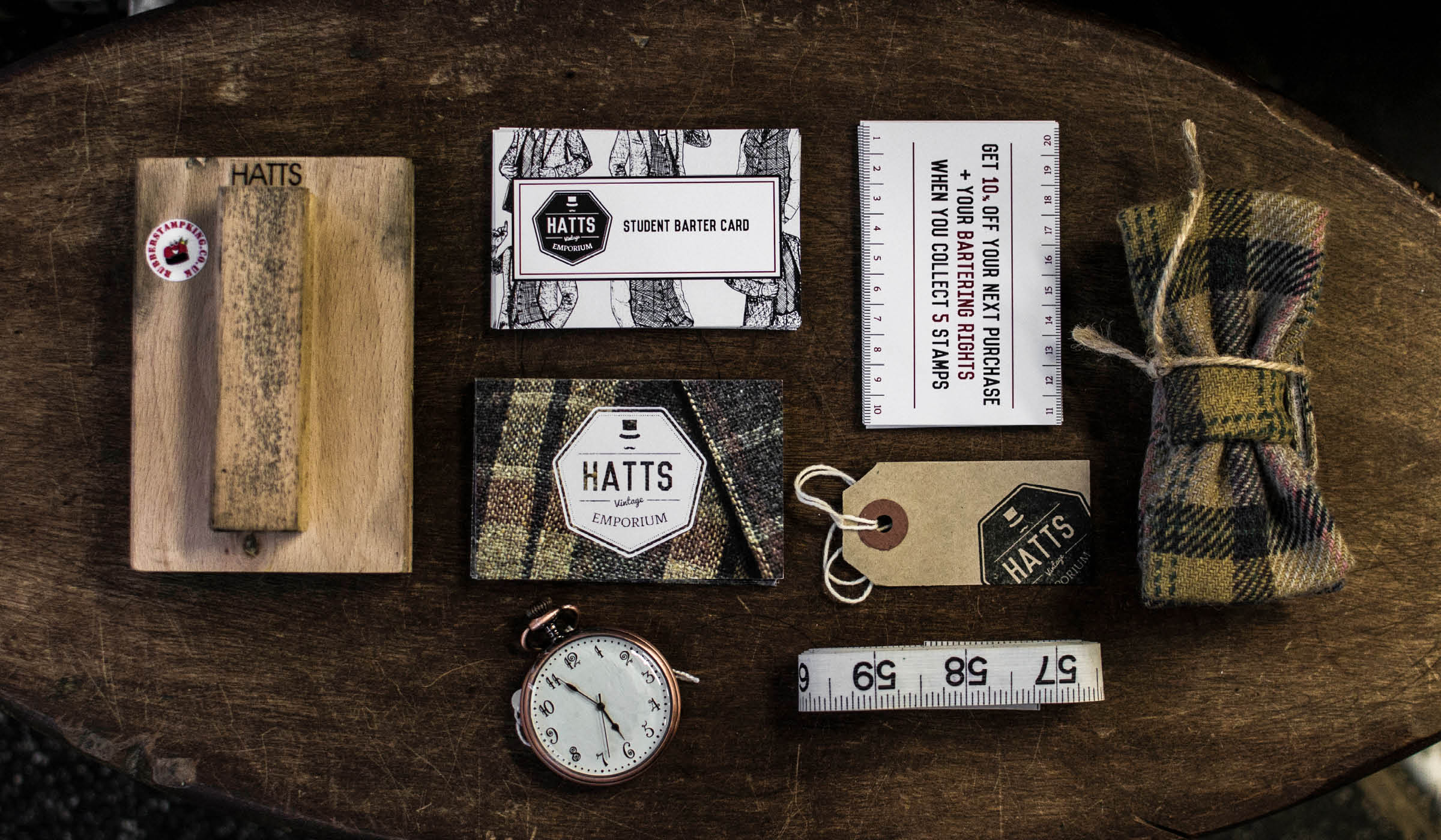 Vintage clothing branding and stationery