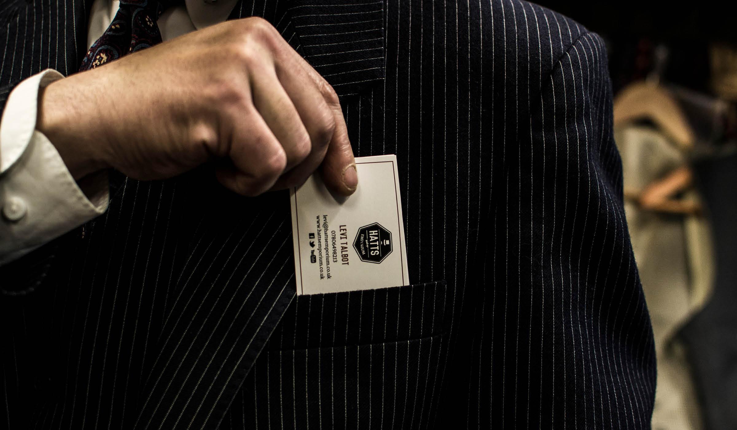 Vintage tailor business card design