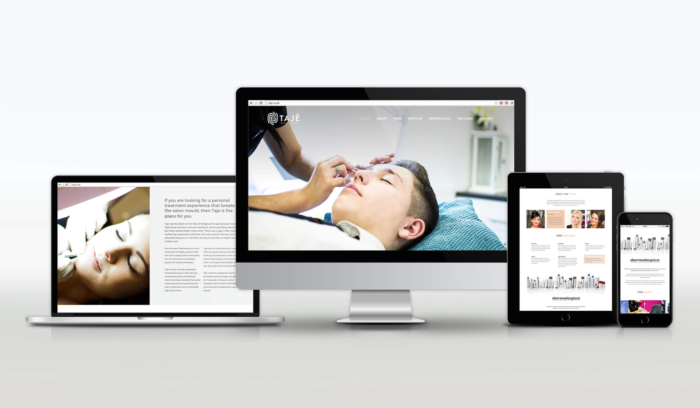 responsive website design for beauty salon