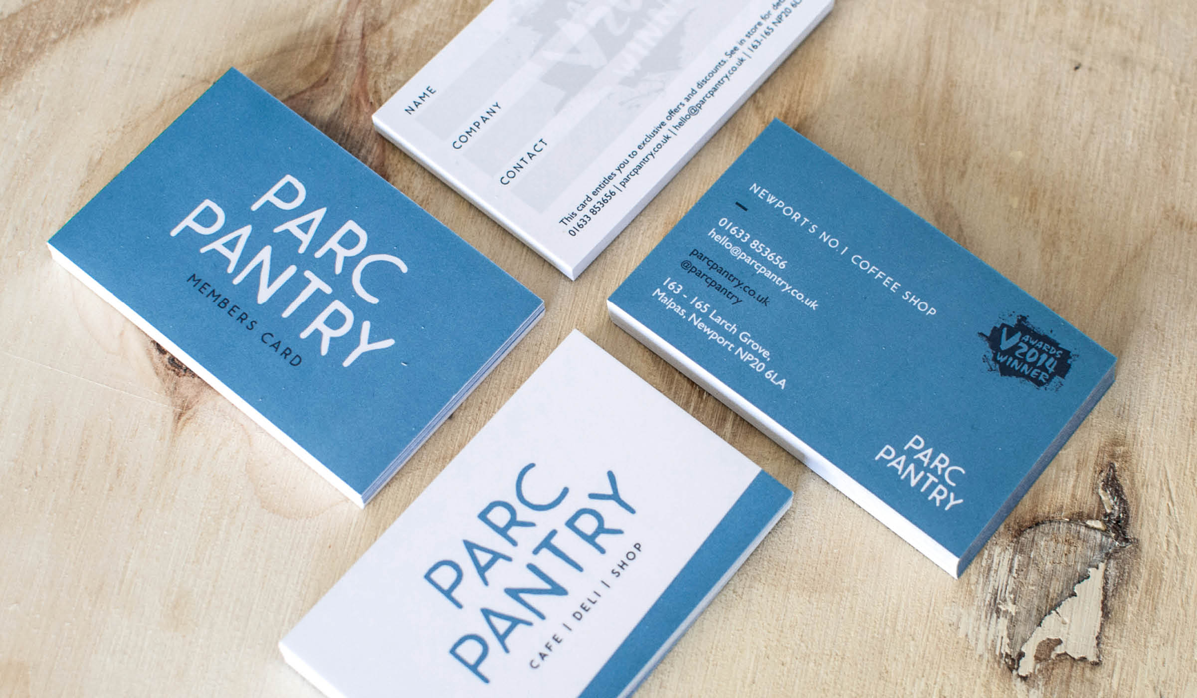 cafe deli stationery and business cards