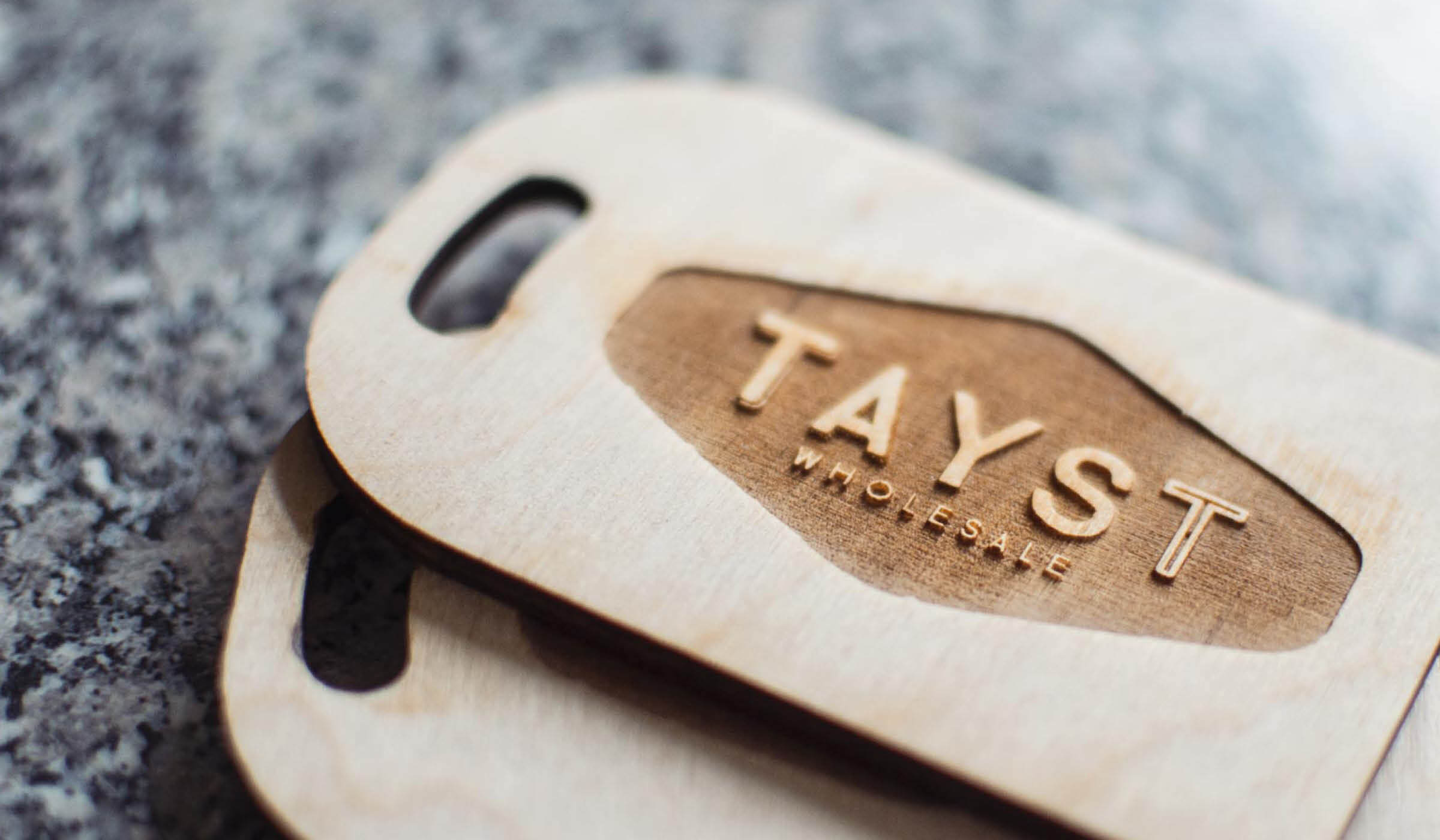 laser engraved business card sized chopping board