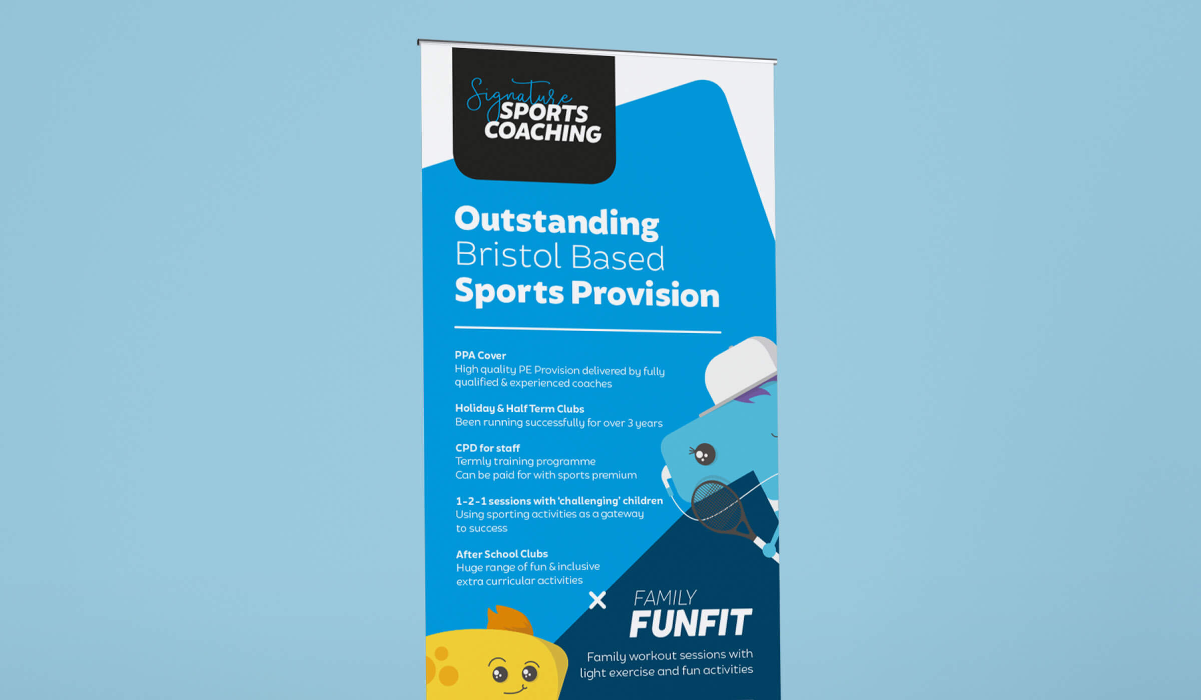 Sports coach roller banner design
