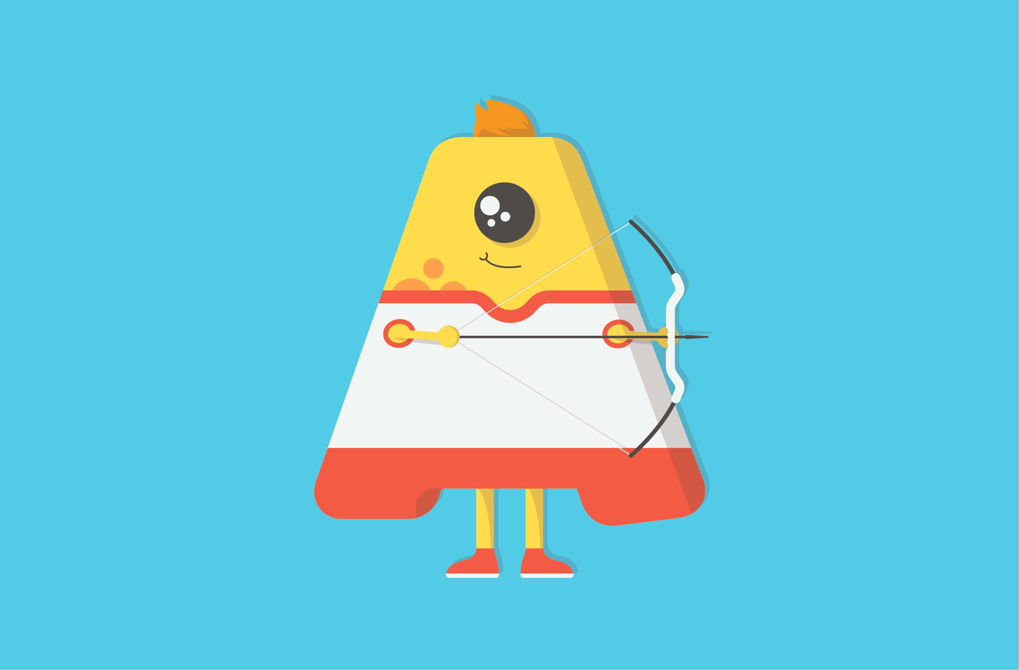 Archery monster character illustration