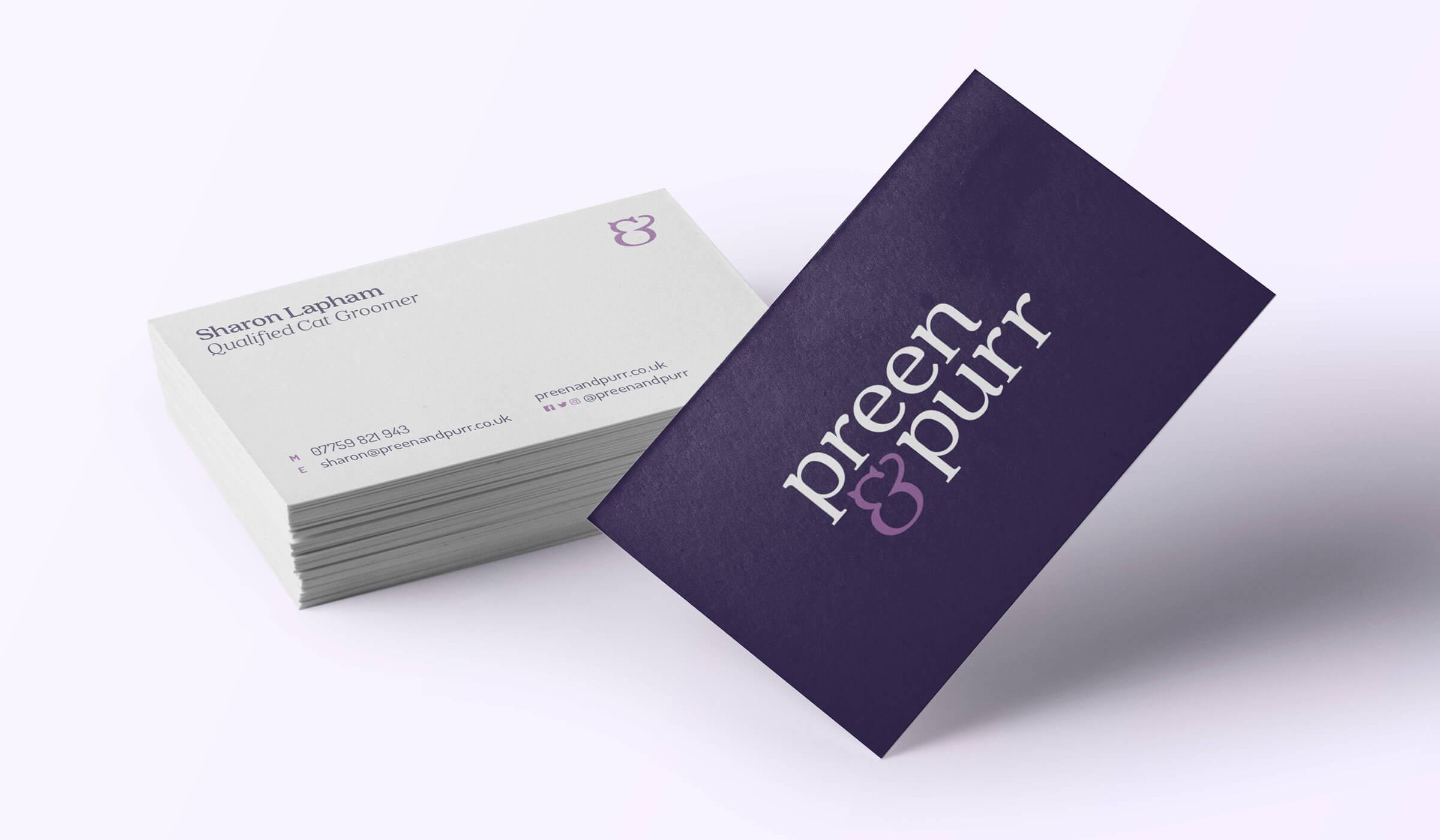 Pet groomers business card design