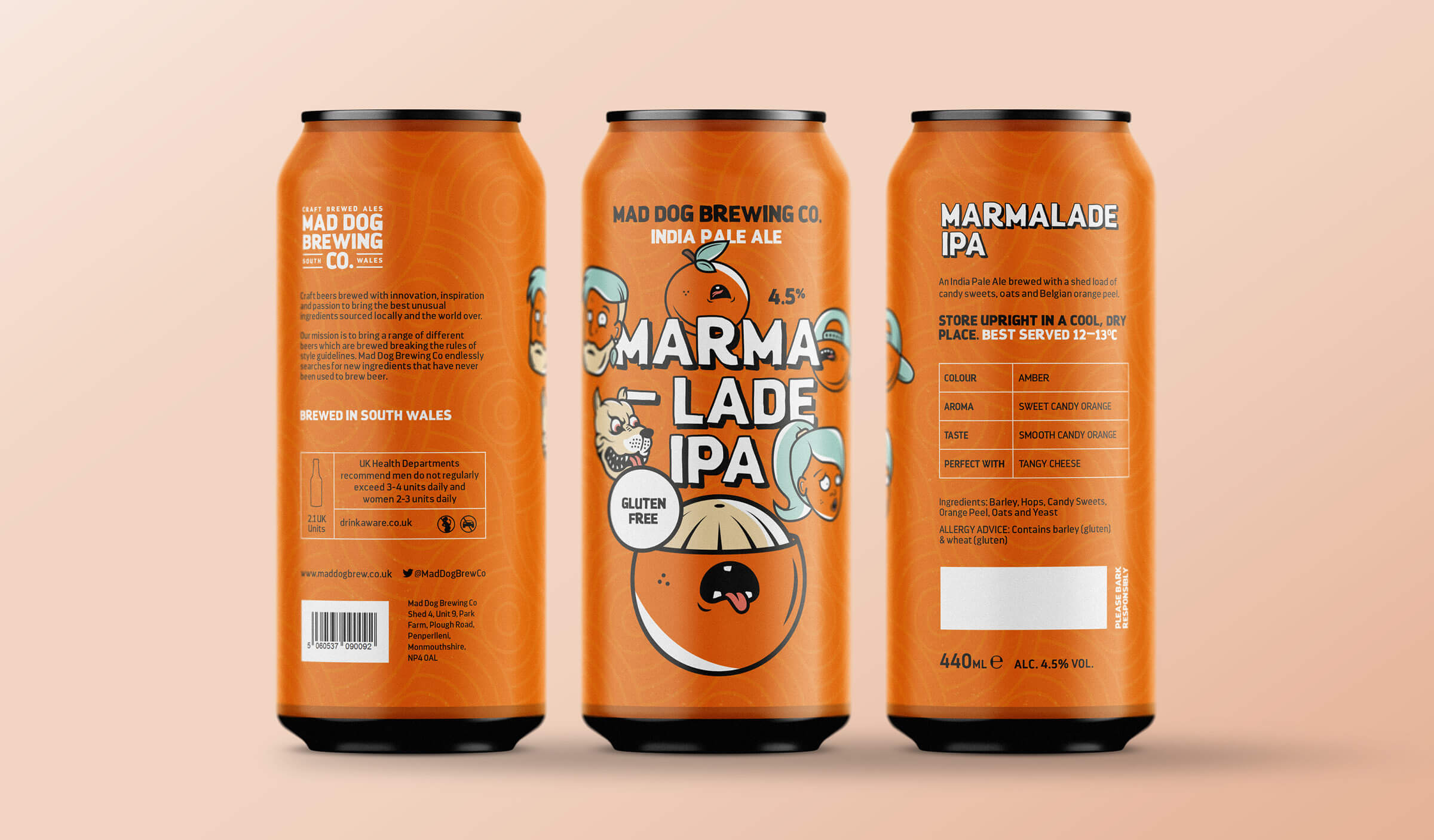 Branding and packaging design for craft beer brewery in South Wales