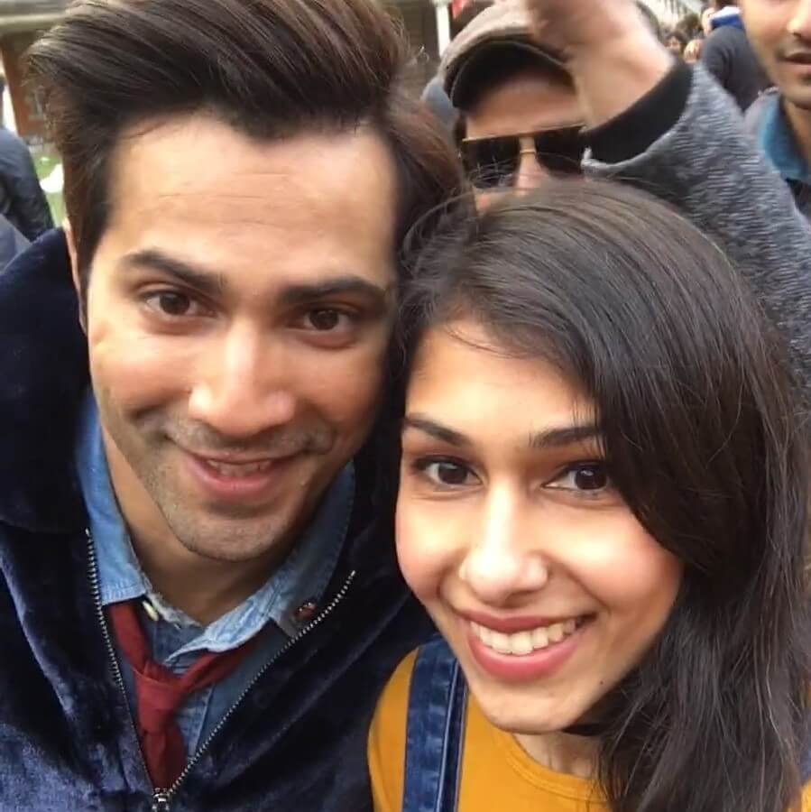 Lopa and Varun Dhawan on the sets of Judwaa 2