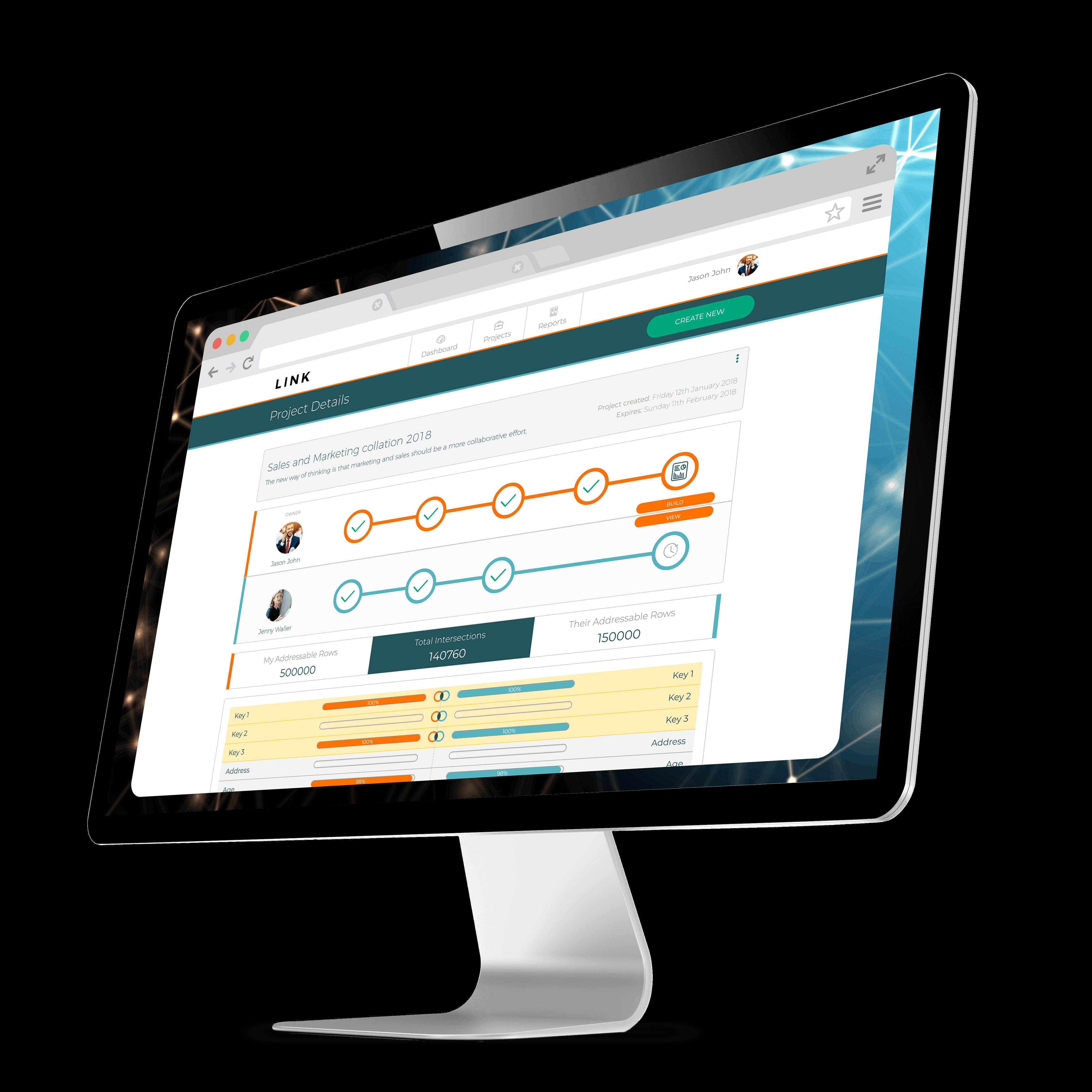 Screenshot of InfoSum Link