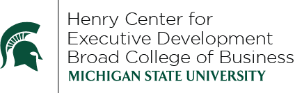 Henry Center for Executive Development Broad College of Business Logo
