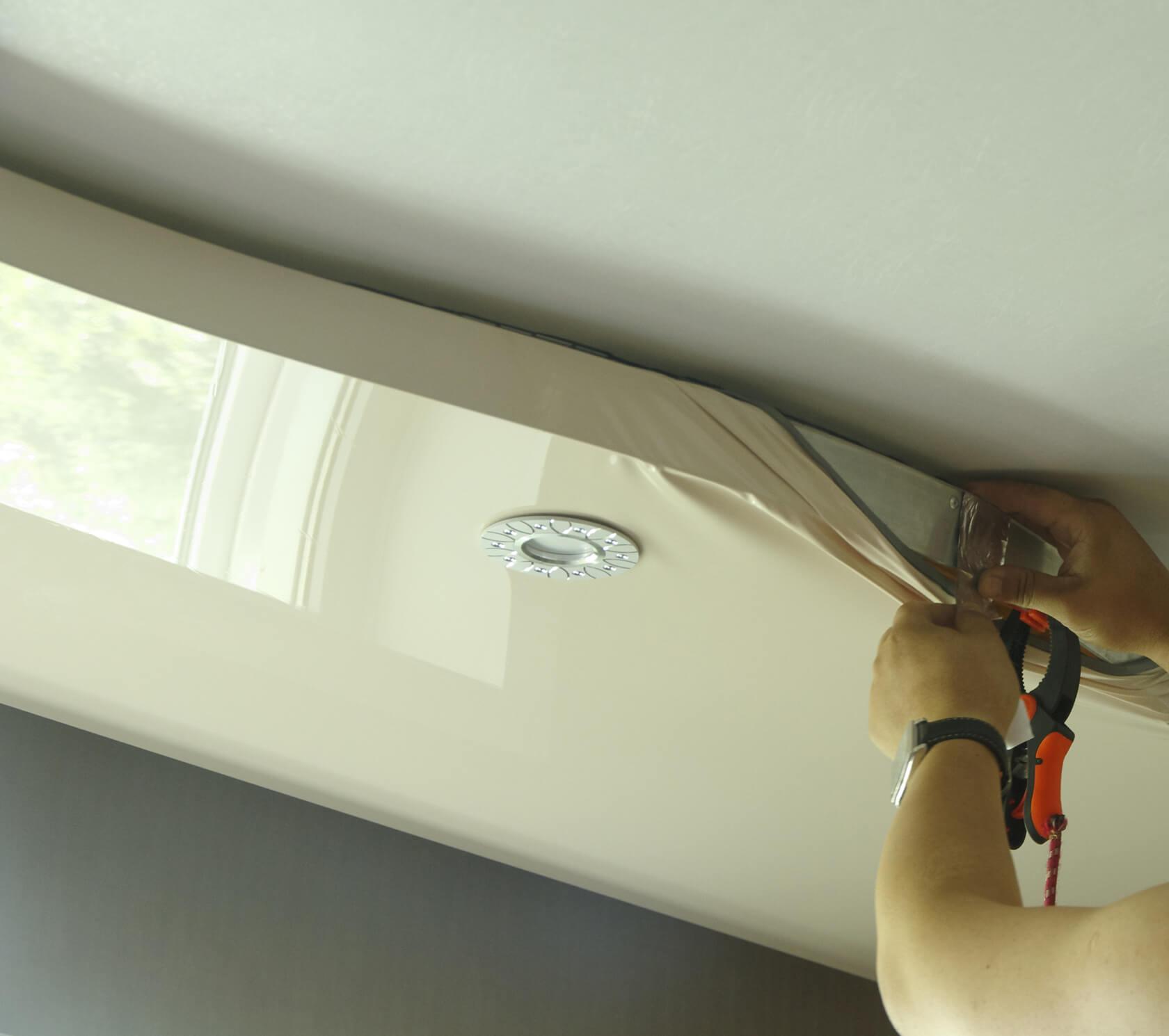 ролики полотна фото натяжные потолки сделать
