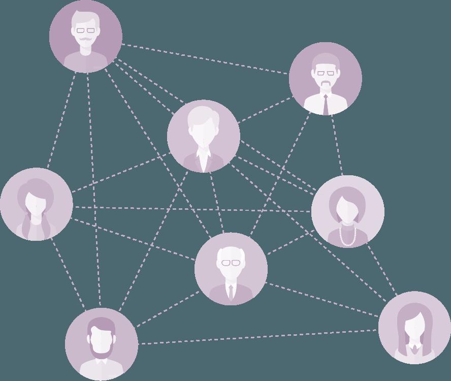 Схема участников цепи поставки. База доступна всем участникам