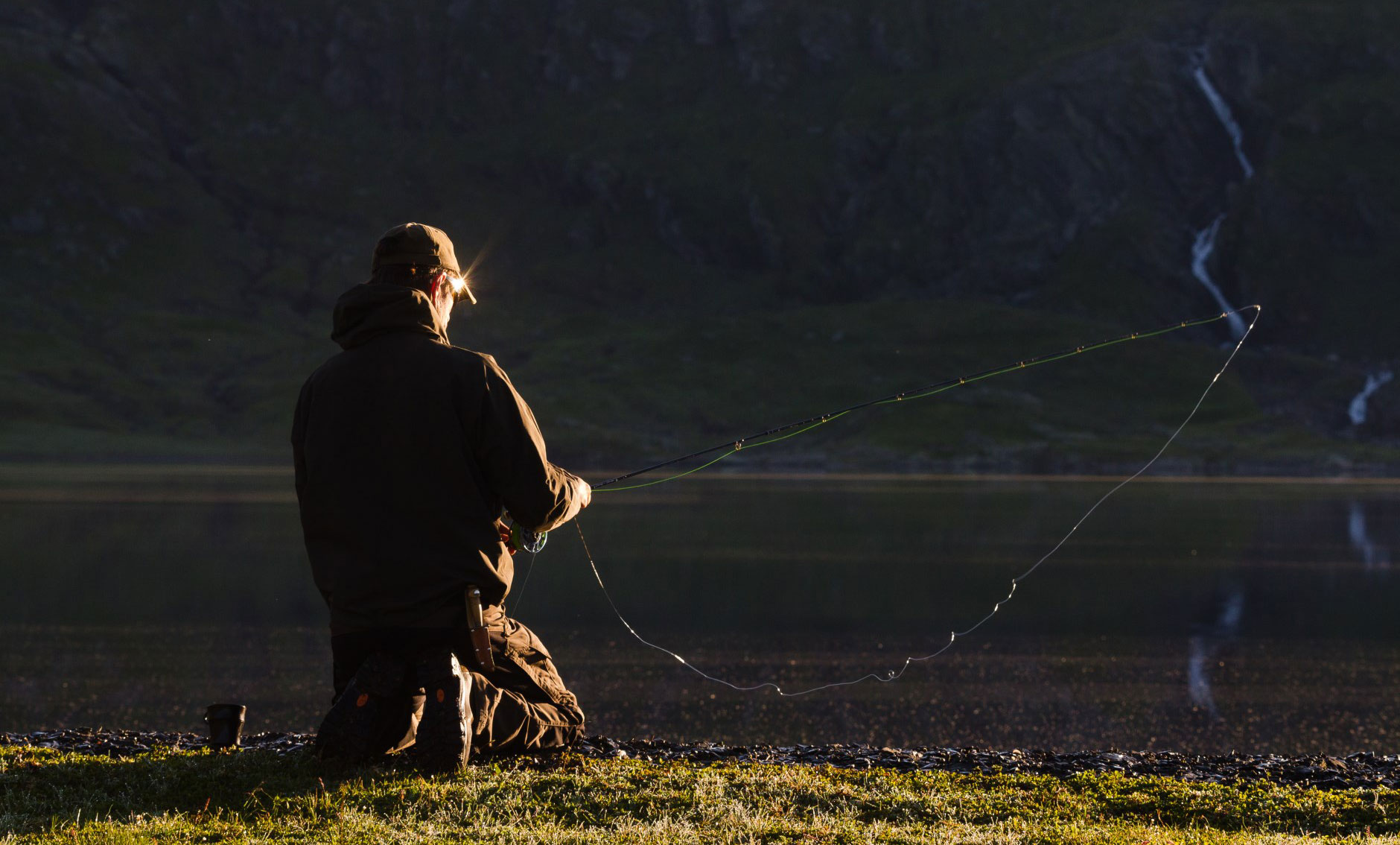 Fishing for trout in the lakes