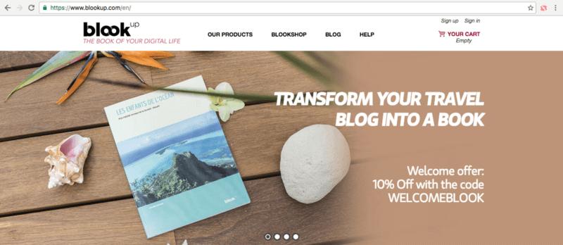 Avec Blook up imprimez votre blog, votre compte Facebook ou Instagam