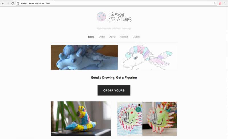 Crayon Creatures impression de dessins d'enfants en figurine 3D