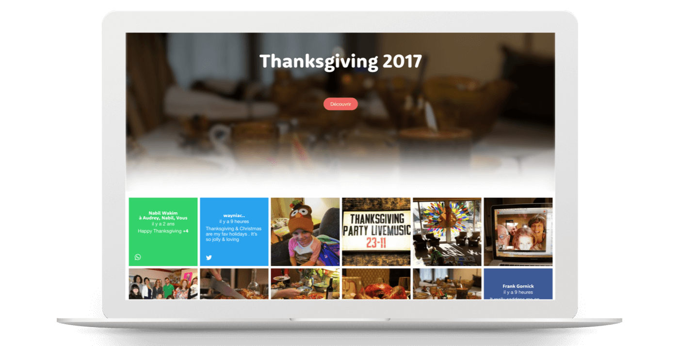 Collect and share your favorite Thanksgiving memories with Kumbu