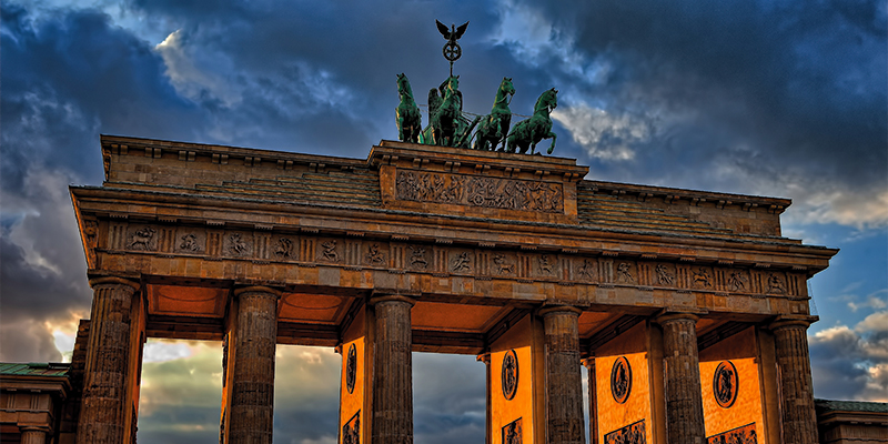 The Brandenburg Gate in Berlin for th New Year Eve