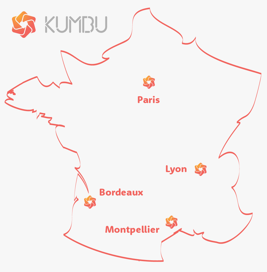 France Map of Kumbu Team Presence